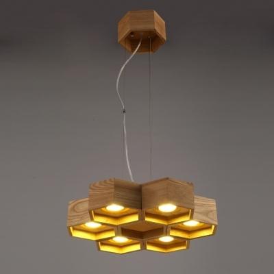 Amazing Popular Honeycomb Pendant Lights For Six Lights Wood Honeycomb Brilliant Designer Large Pendant Light (Image 1 of 25)