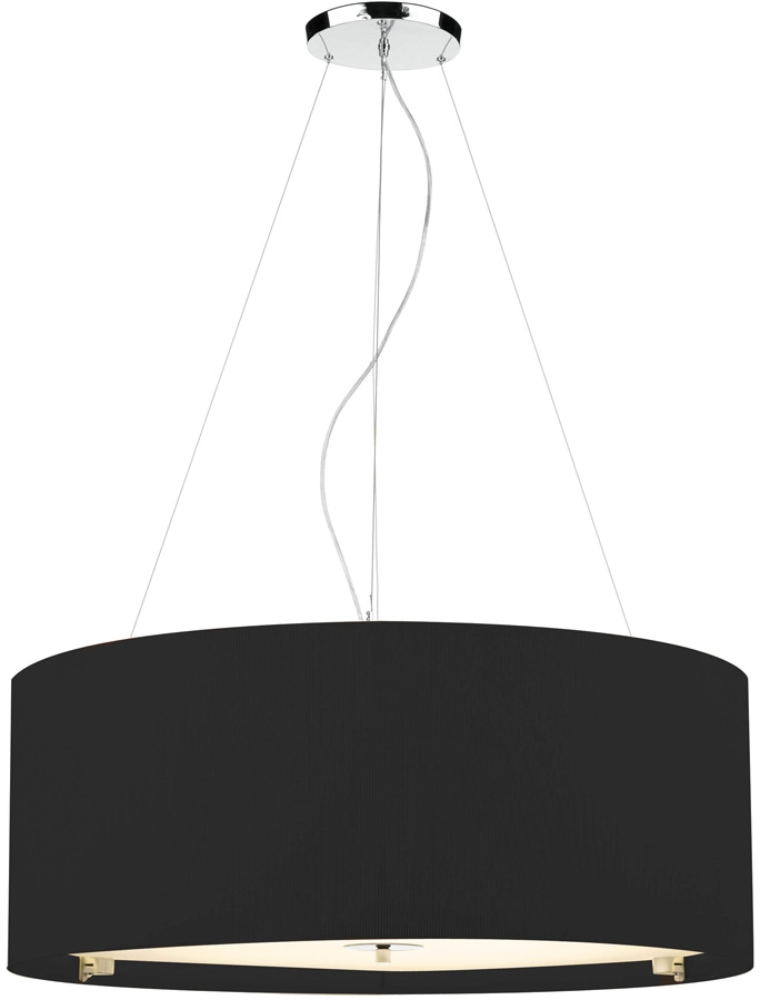 amazing premium oversized drum pendant lights regarding dar zaragoza large modern 6 light pendant 90cm black