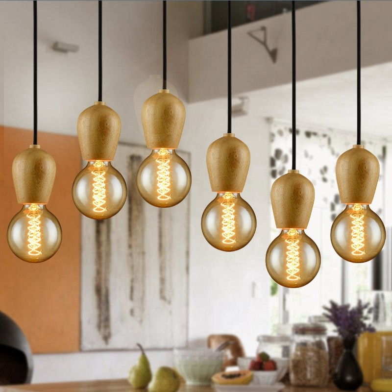 Amazing Series Of Wooden Pendant Lights For Sale Intended For Aliexpress Buy Modren Single Original Wood Pendant Lights (View 8 of 25)