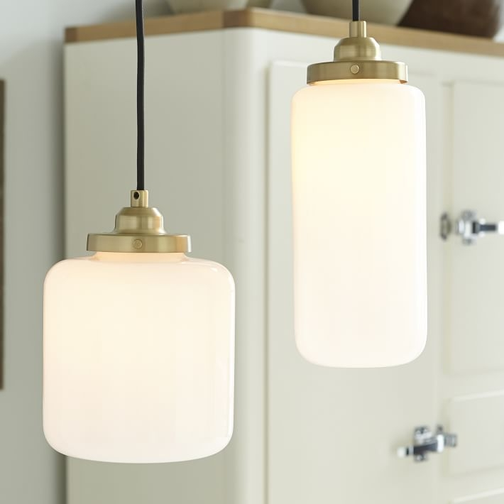 Amazing Unique Milk Glass Pendants Throughout Glass Jar Pendant Milk West Elm (Image 4 of 25)