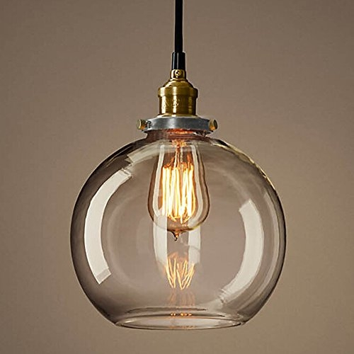 Amazing Unique Rustic Clear Glass Pendant Lights For Permo 1 Light Rustic Rubbed Bronze Lampholder Clear Round Glass (Image 2 of 25)