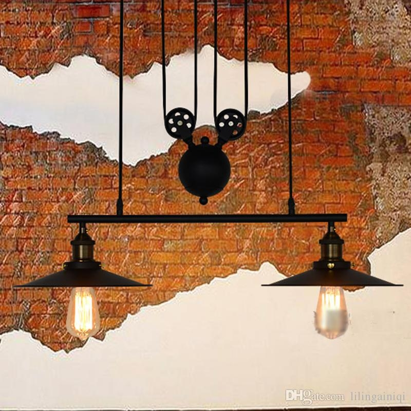 Amazing Wellknown Adjustable Pulley Pendant Lights With Regard To Popular Pulley Pendant Light Buy Cheap Pulley Pendant Light Lots (Image 2 of 25)