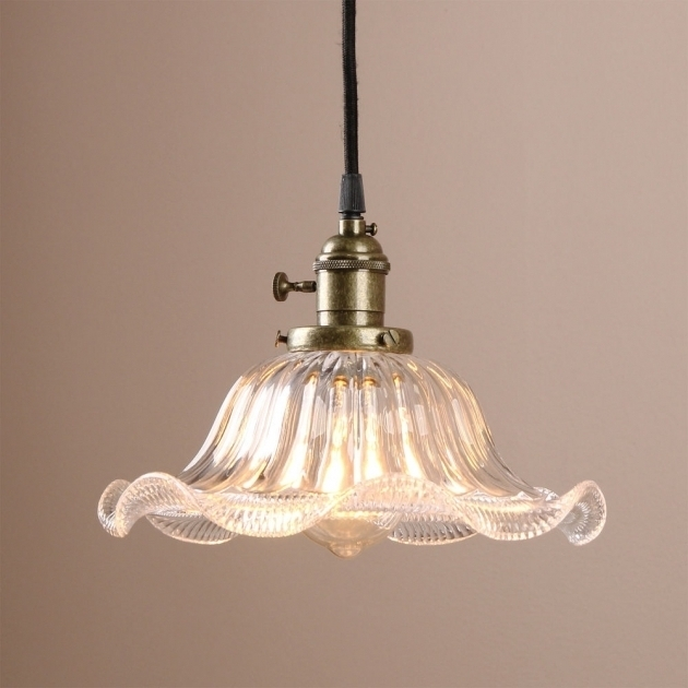 Amazing Wellknown French Style Glass Pendant Lights Intended For Incredible French Art Deco Pendant Lamp With Big Glass Ball For (Image 3 of 25)