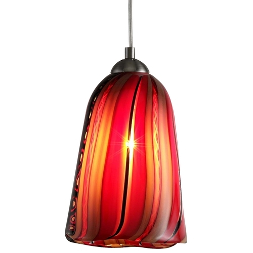 Amazing Well Known Murano Glass Pendant Lights Throughout Art Glass Satin Nickel Mini Pendant Lights Destination Lighting (Image 2 of 25)
