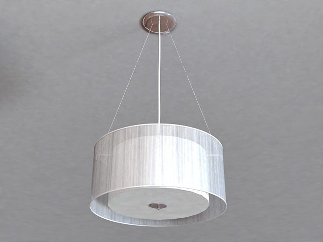 Amazing Wellknown Oversized Drum Pendant Lights Throughout Large Drum Pendant Lighting 3d Model 3ds Max Files Free Download (Image 4 of 25)