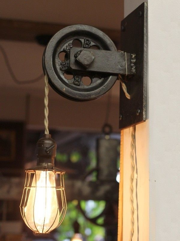 Amazing Well Known Reclaimed Light Fittings Inside Best 25 Rustic Wall Lighting Ideas On Pinterest Reclaimed Wood (Image 2 of 25)
