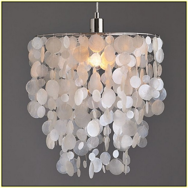Amazing Well Known Shell Light Shades Regarding Capiz Shell Lamp Shades Uk Home Design Ideas (Image 5 of 25)