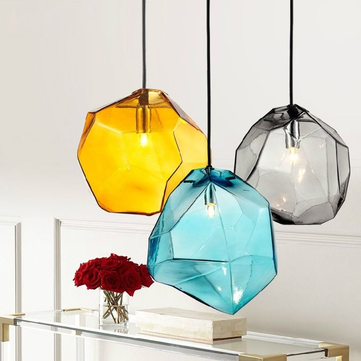 Amazing Well Known Turquoise Blue Glass Pendant Lights For Best 25 Glass Pendant Light Ideas On Pinterest Kitchen Pendants (Image 4 of 25)