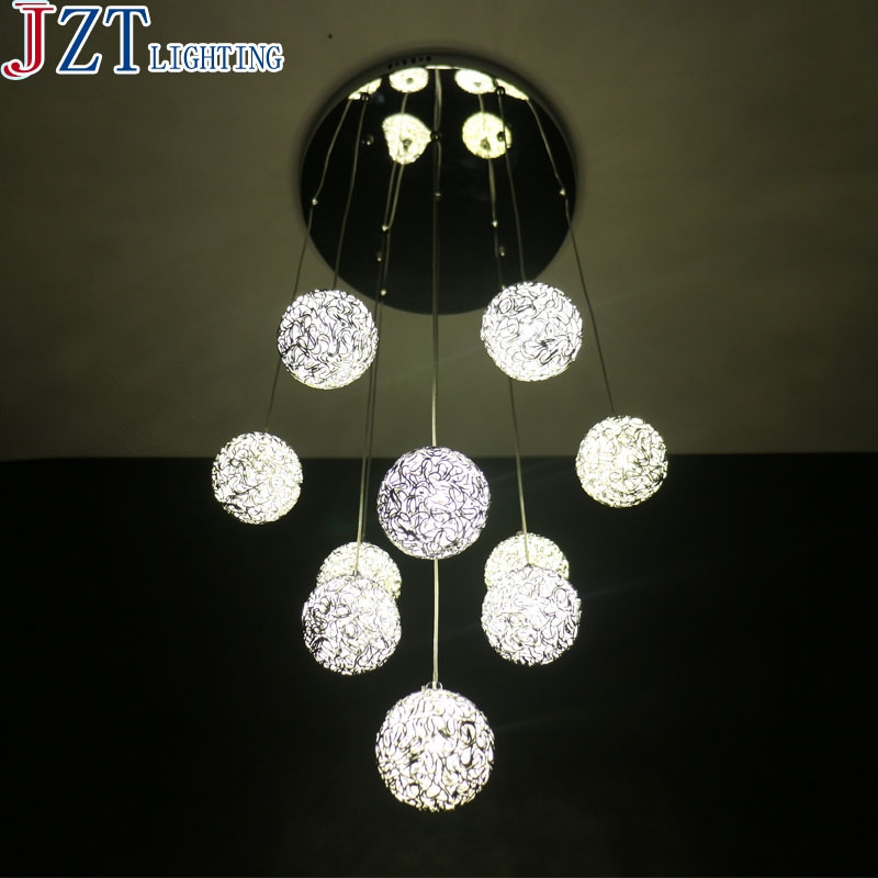Amazing Well Known Wire Ball Pendant Lights For Aliexpress Buy M 10 Head Aluminium Wire Ball Led Pendant (Image 4 of 25)