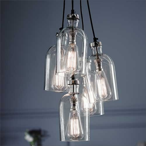 Amazing Wellliked Cluster Glass Pendant Light Fixtures Regarding Pendants Pendant Lighting Springelectrical Electrical (Image 2 of 25)