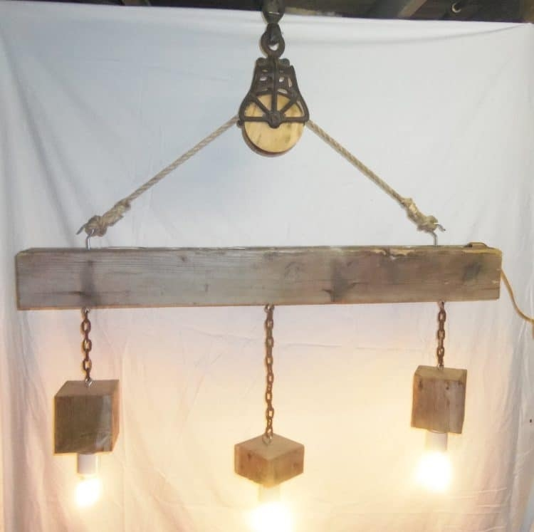Amazing Wellliked Reclaimed Pendant Lighting Inside Beam Wood Light Fixture And Pulley Pendant Light Id Lights (Image 3 of 25)