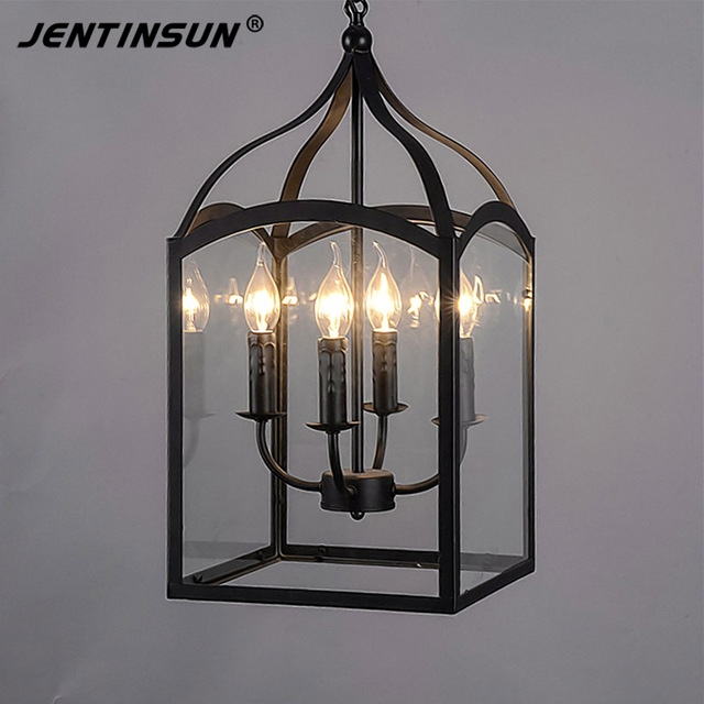 Amazing Widely Used Birdcage Pendant Lights With Regard To Aliexpress Buy Northern Europe Glass Cage Pendant Light Loft (Image 2 of 25)