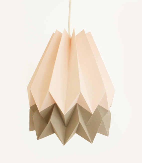 Amazing Widely Used Paper Pendant Lamps For Origami Pendant Lights Lampshades (Image 4 of 25)