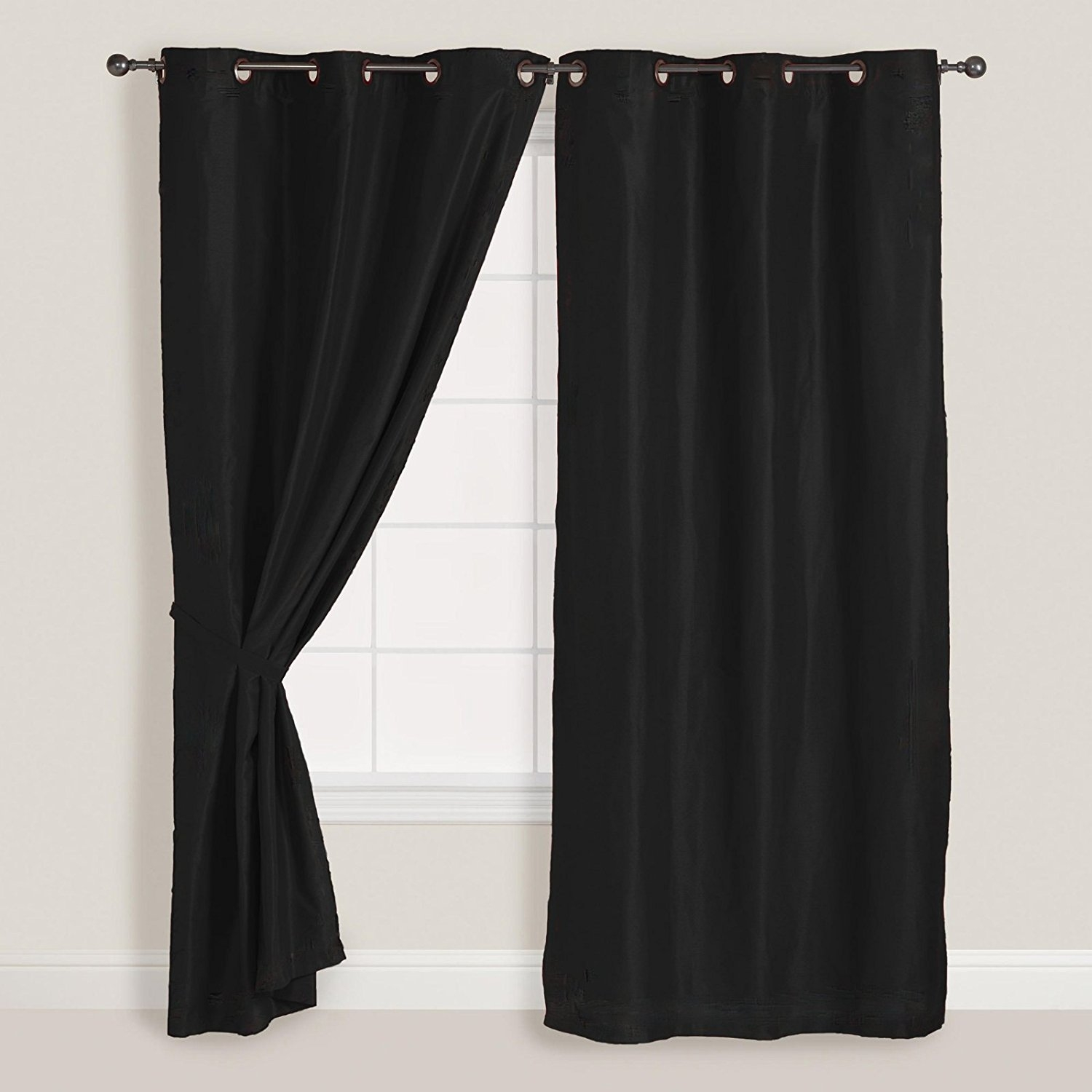 Amazon 2x Panelspair Faux Suede Metal Grommet Curtain Drape Inside Faux Suede Curtain Panels (Image 2 of 25)