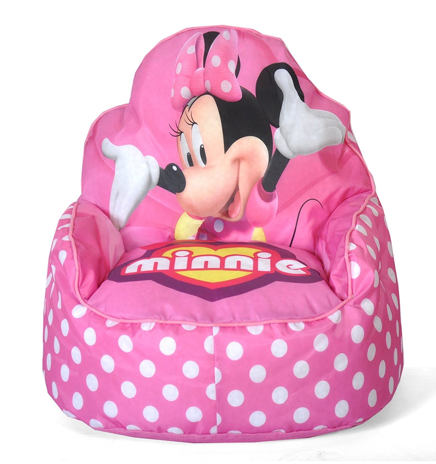 Amazon Disney Minnie Mouse Toddler Bean Bag Sofa Chair Toys With Regard To Disney Sofa Chairs (Image 1 of 15)