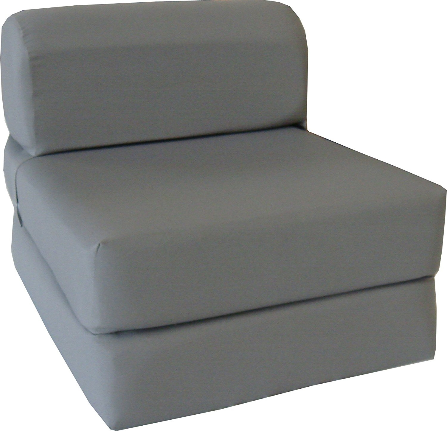 Amazon Gray Sleeper Chair Folding Foam Bed Sized 6 Thick X Within Cheap Single Sofa Bed Chairs (Image 4 of 15)