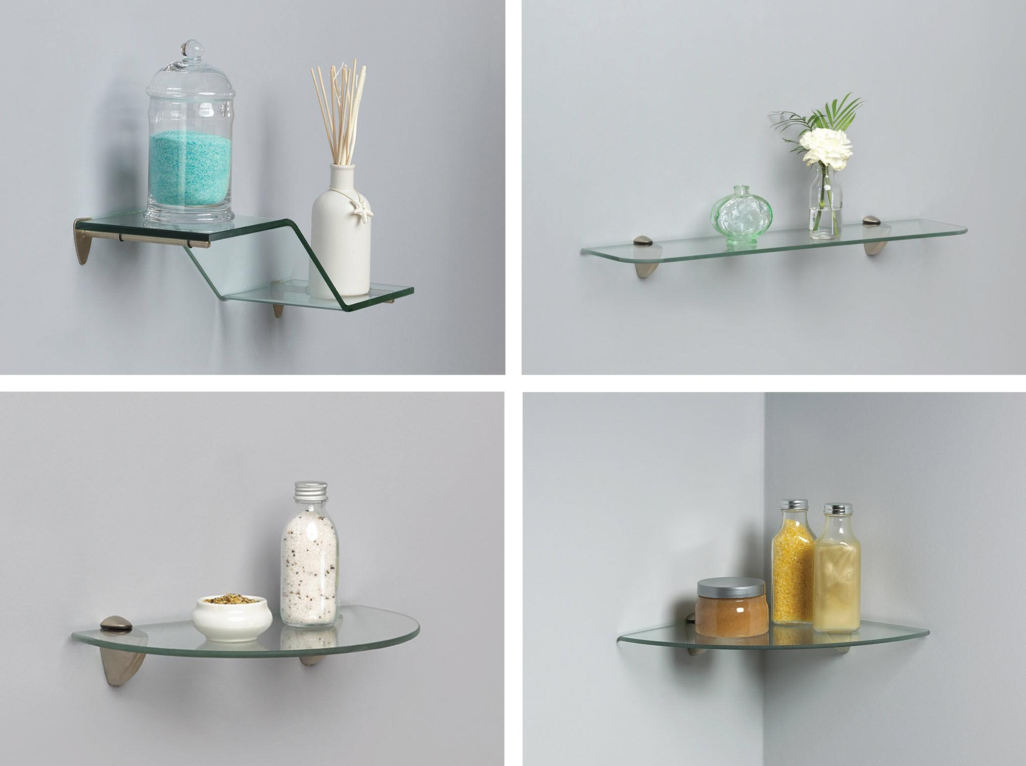 Amazon John Sterling Shelf Made Kt 0134 1212sn Glass Corner Throughout Glass Corner Shelves (View 2 of 15)