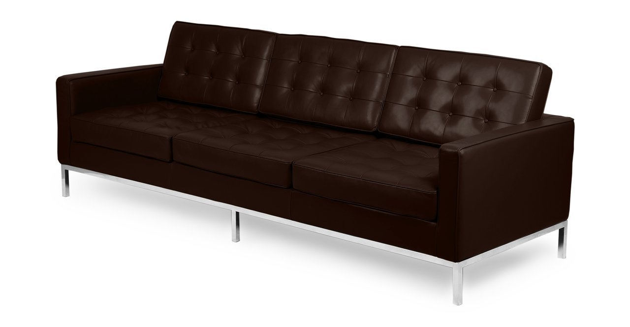 Amazon Kardiel Florence Knoll Style Sofa 3 Seat Choco Brown Regarding Florence Knoll Style Sofas (Image 1 of 15)