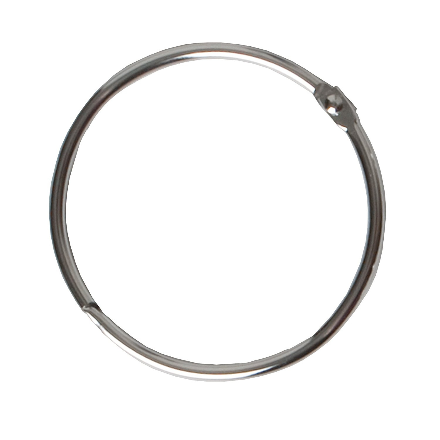 Amazon Maytex Mills Metal Circular Shower Ring Chrome Set For Black Curtain Rings (Image 2 of 25)