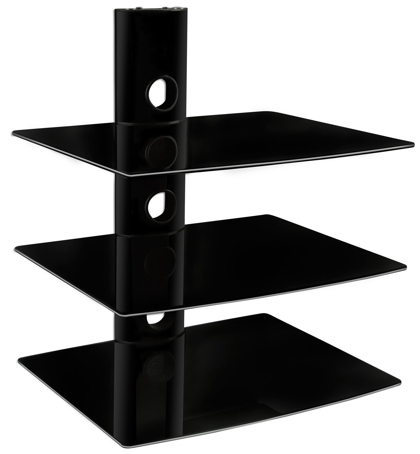 Amazon Mount It Mi 803 Floating Wall Mounted Shelf Bracket Pertaining To Floating Glass Shelf For Dvd Player (Image 1 of 15)