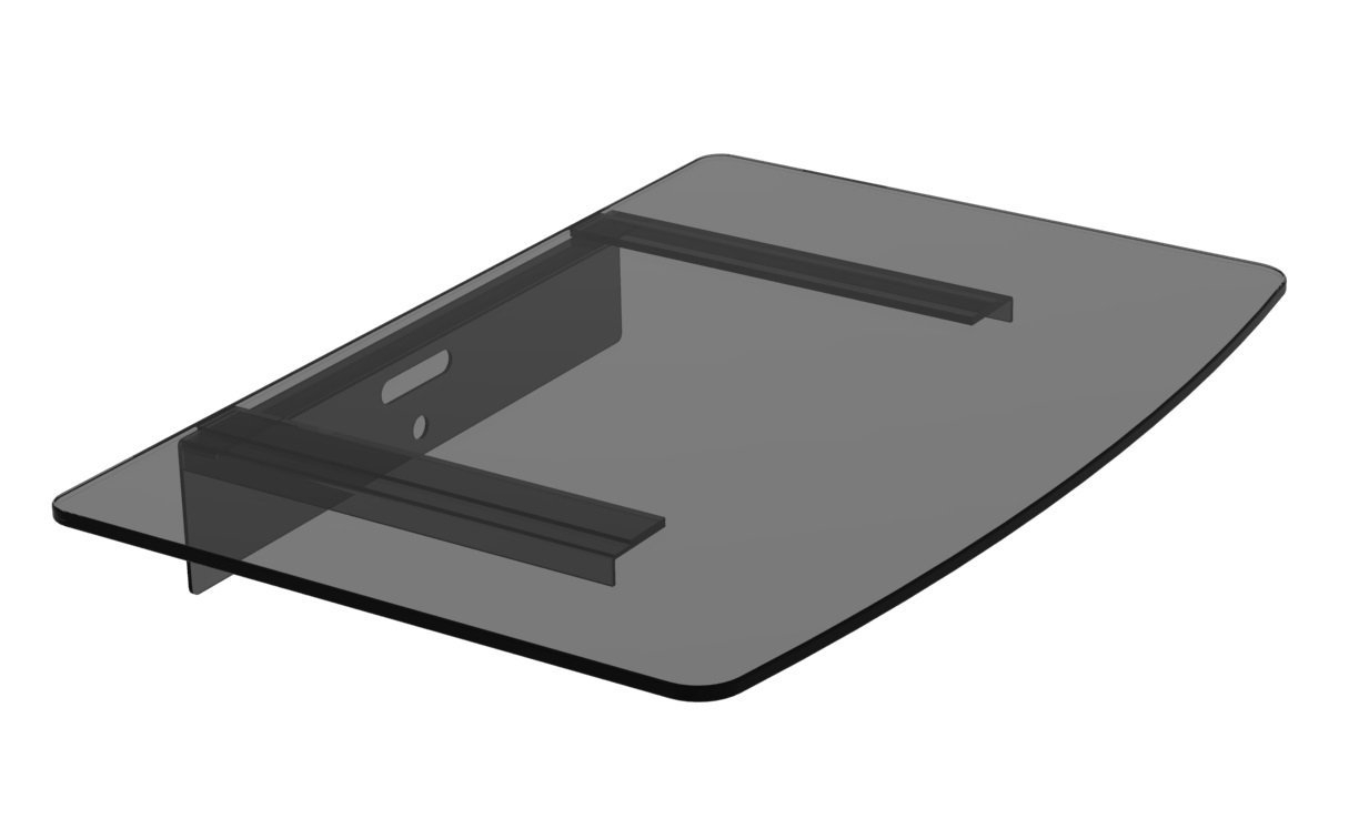 Amazon Mount World 1443 Compact Glass Component Single Shelf Regarding Glass Shelf For Dvd Player (Image 2 of 15)