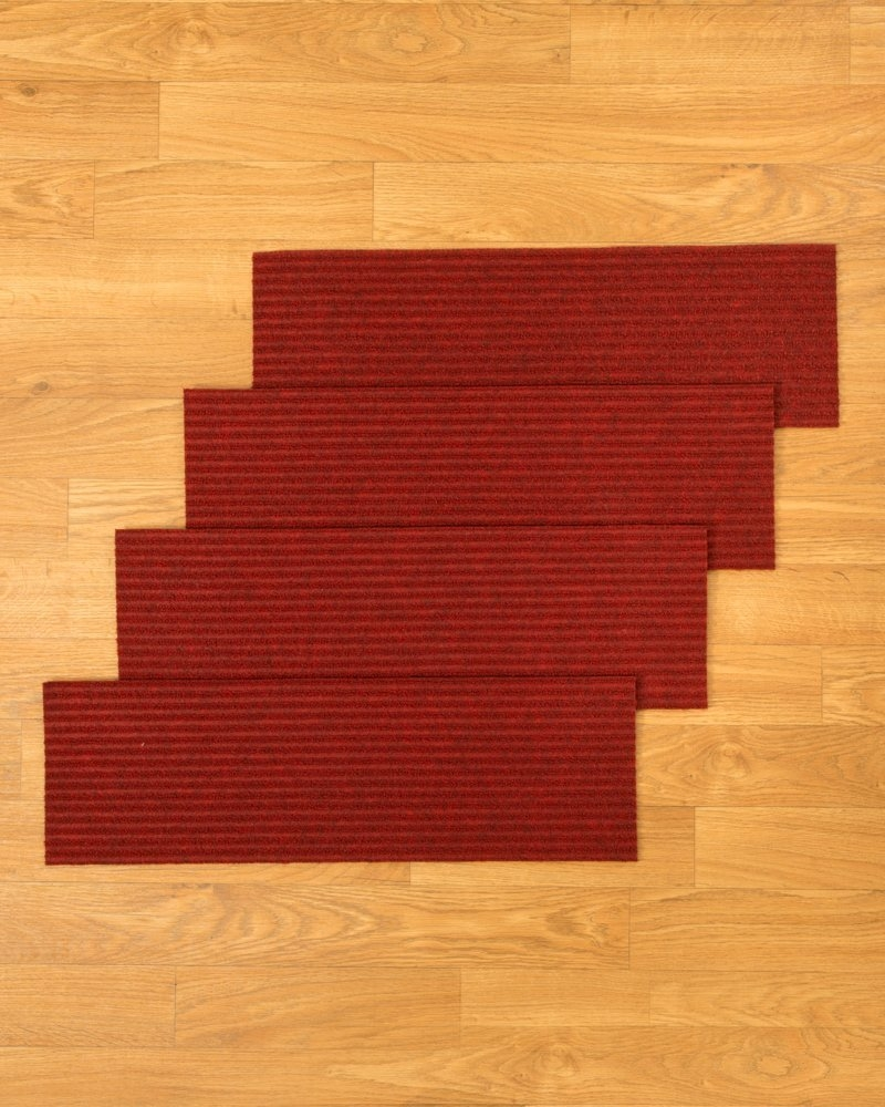Amazon Naturalarearugs Halton Polyester Carpet Stair Treads Regarding Peel And Stick Carpet Stair Treads (Image 3 of 15)