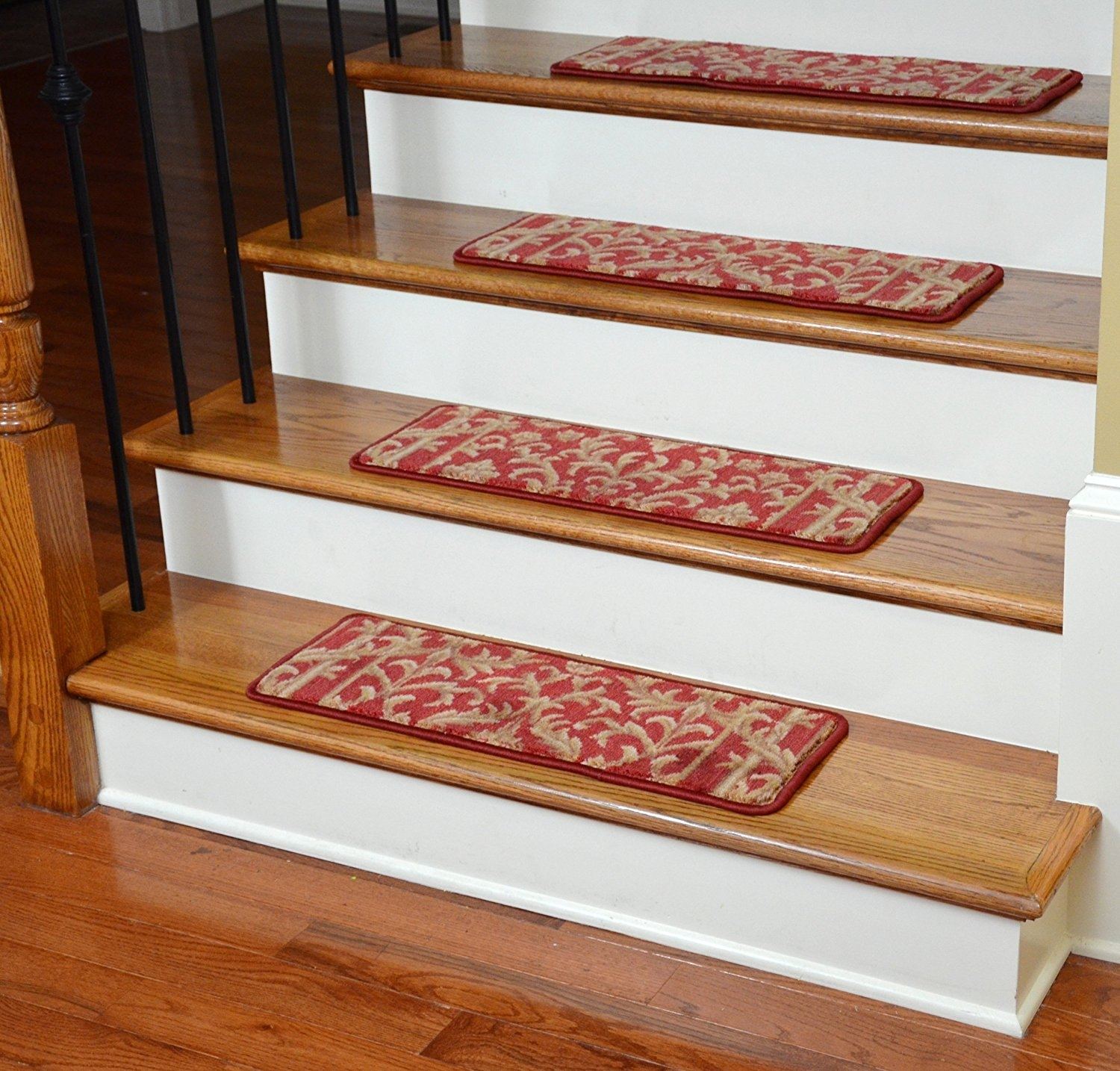 Amazon Premium Carpet Stair Treads Baroque Spice Within Premium Carpet Stair Treads (Image 2 of 15)
