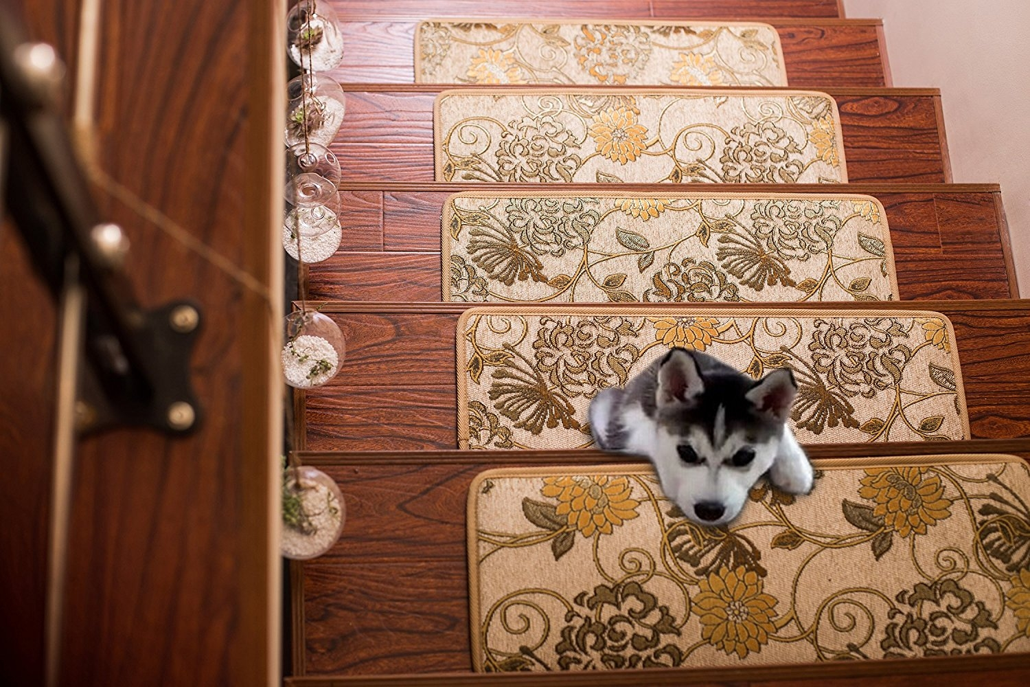 Amazon Soloom Carpet Stair Treads Indoor Set Of 13 Blended Regarding Carpet Stair Treads Set Of  (Image 1 of 15)
