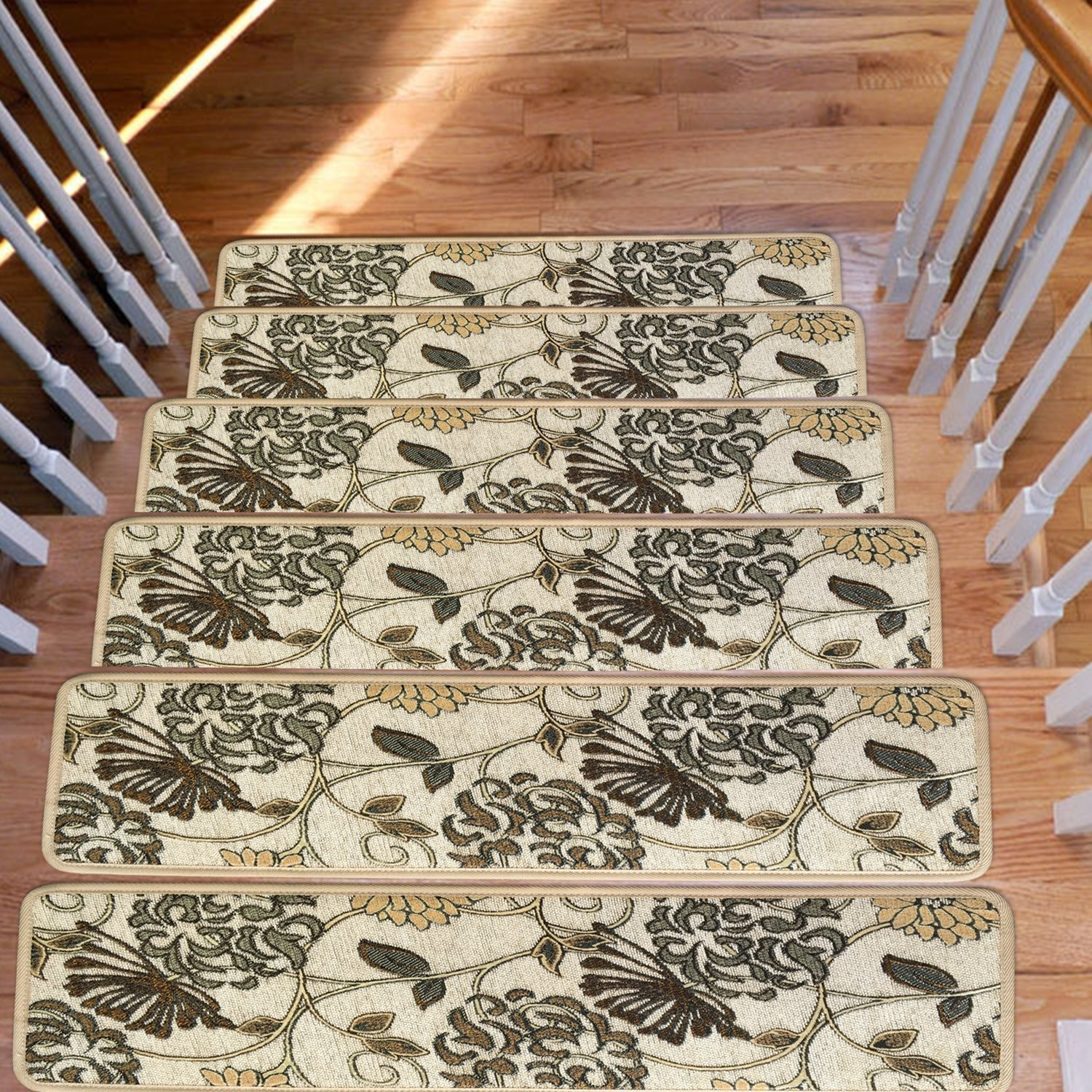 Amazon Soloom Carpet Stair Treads Non Slip Set Of 13 Indoor Pertaining To Rubber Backed Stair Tread Rugs (Image 4 of 15)