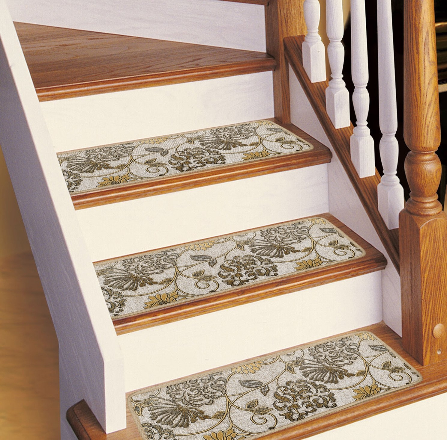 Amazon Soloom Non Slip Stair Treads Carpet 1 Piece Blended In Stair Tread Rug Gripper (View 14 of 15)