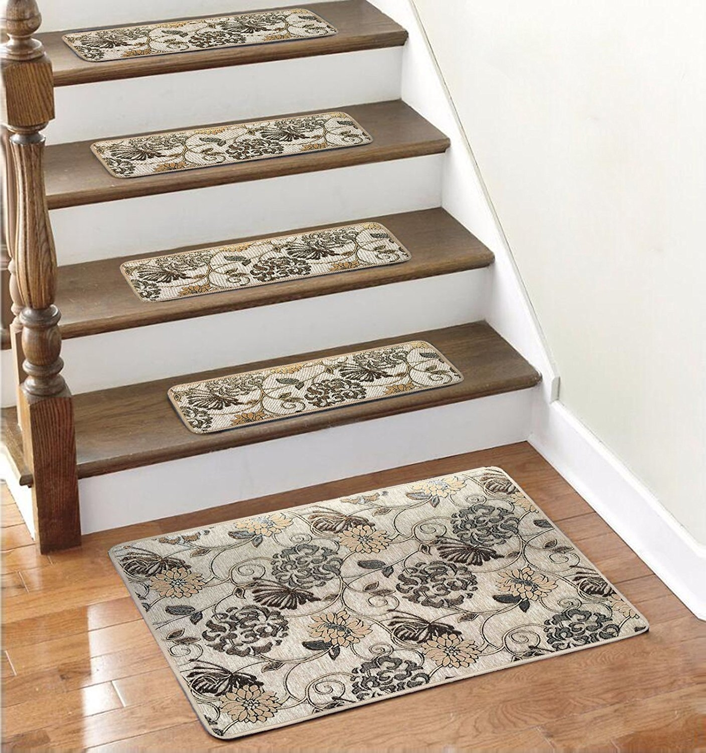 Amazon Soloom Non Slip Stair Treads Carpet Set Of 1326×10 Intended For Rubber Backed Stair Tread Rugs (Image 6 of 15)
