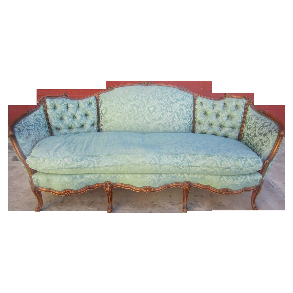 American Antique Carved Sofa Couch Loveseat Antique Furniture In Vintage Sofa Styles (View 4 of 15)