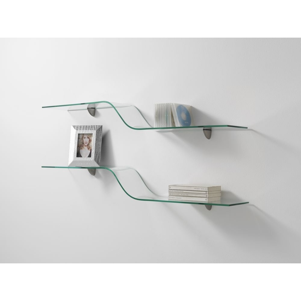Amusing Curved Glass Wall Shelves 30 About Remodel Free Floating Pertaining To Free Floating Glass Shelves (Image 1 of 15)