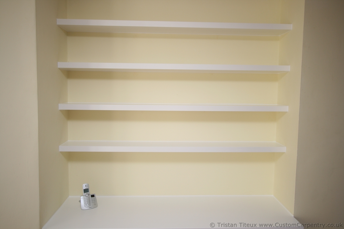Amusing White Floating Shelves Bedroom Pics Decoration Ideas For Custom Floating Shelves (Image 1 of 15)