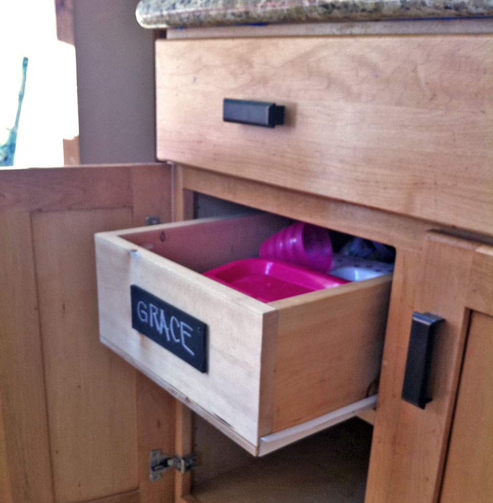 Ana White Wood Pullout Cabinet Drawer Organizer Diy Projects Throughout Cupboard Drawers (Image 5 of 25)