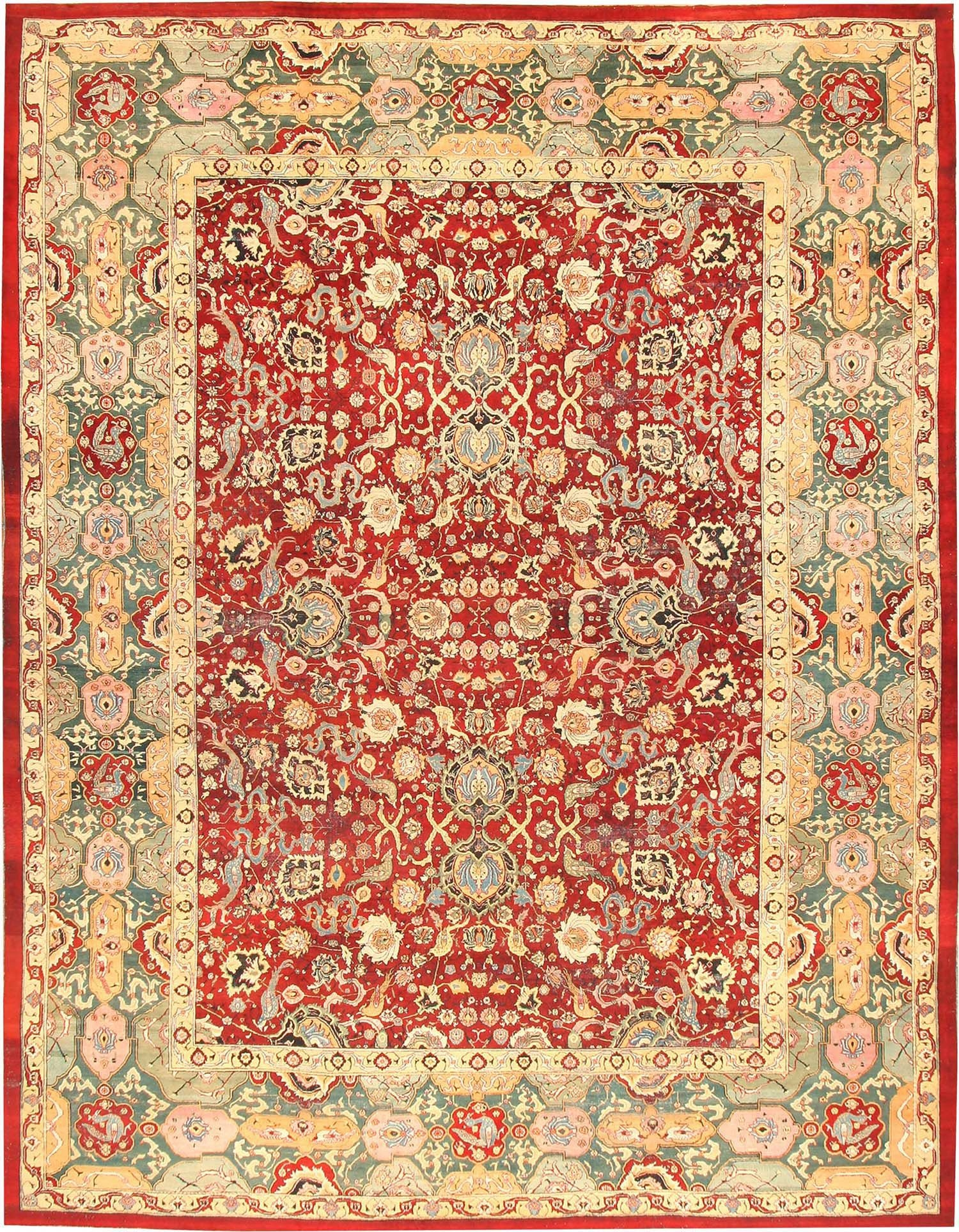 Antique Agra Rug From India 41269 Nazmiyal In Agra Rugs (Image 7 of 15)
