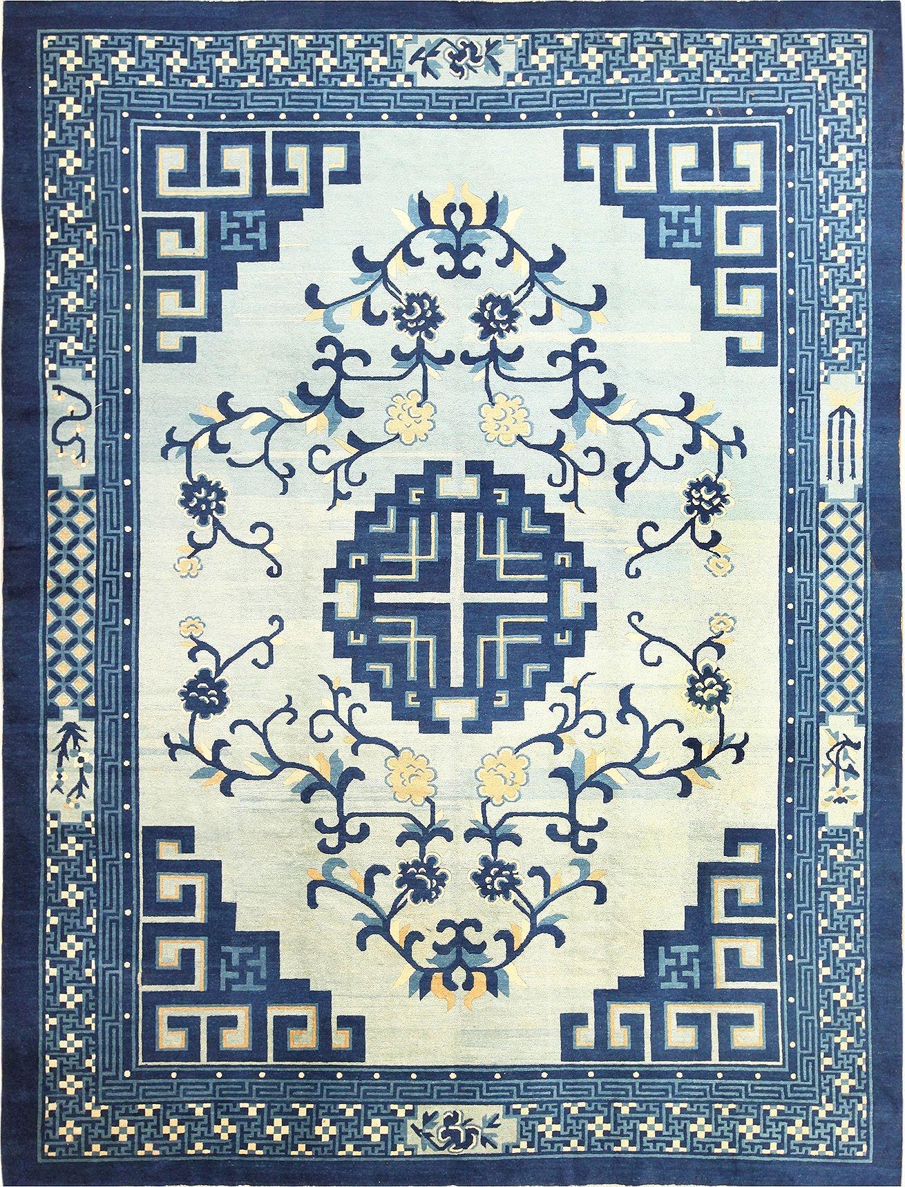 Antique Chinese Peking Rug 49120 Nazmiyal In Chinese Rugs (View 12 of 15)