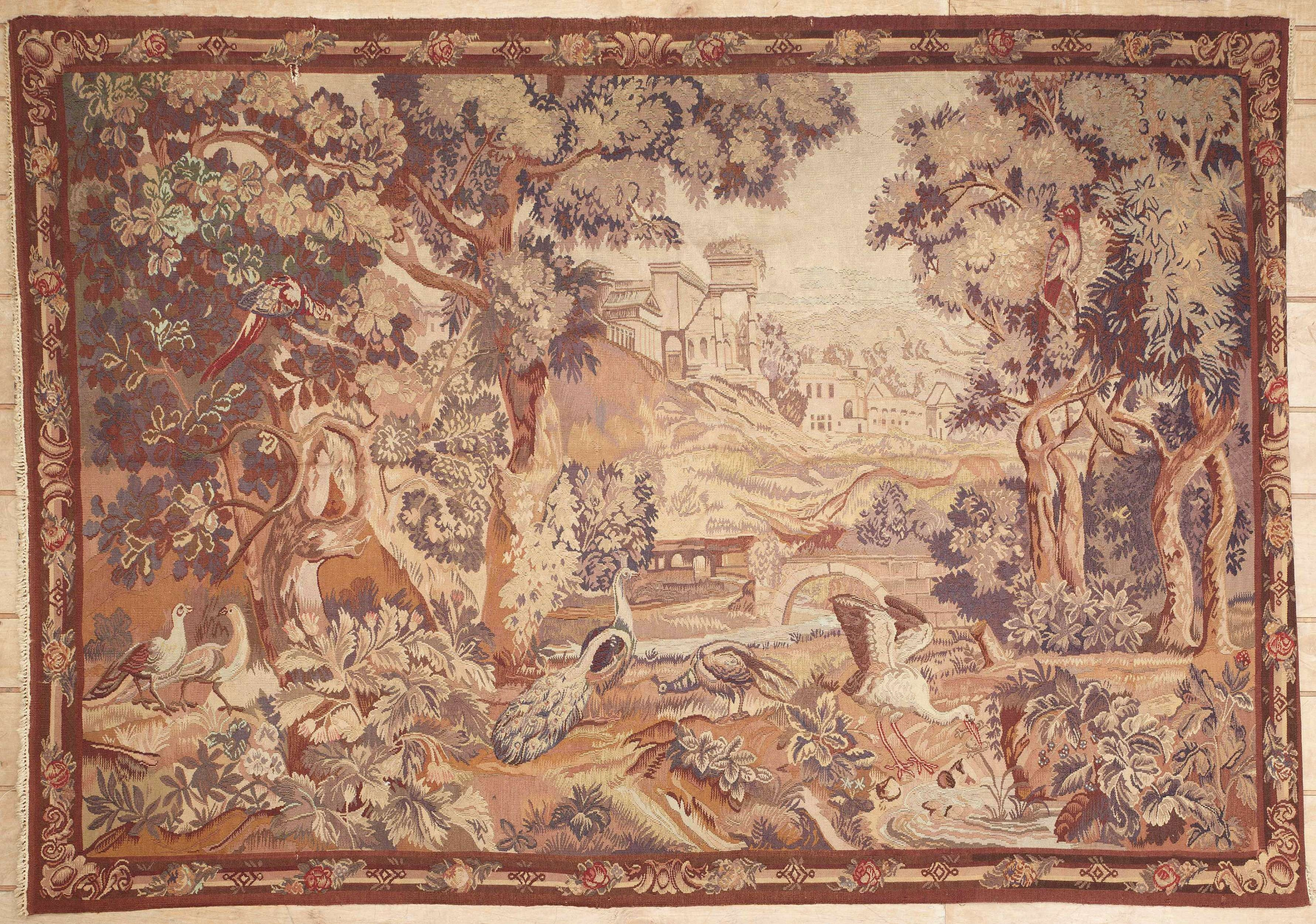 Antique European Tapestry 38266 For European Rugs (Image 4 of 15)
