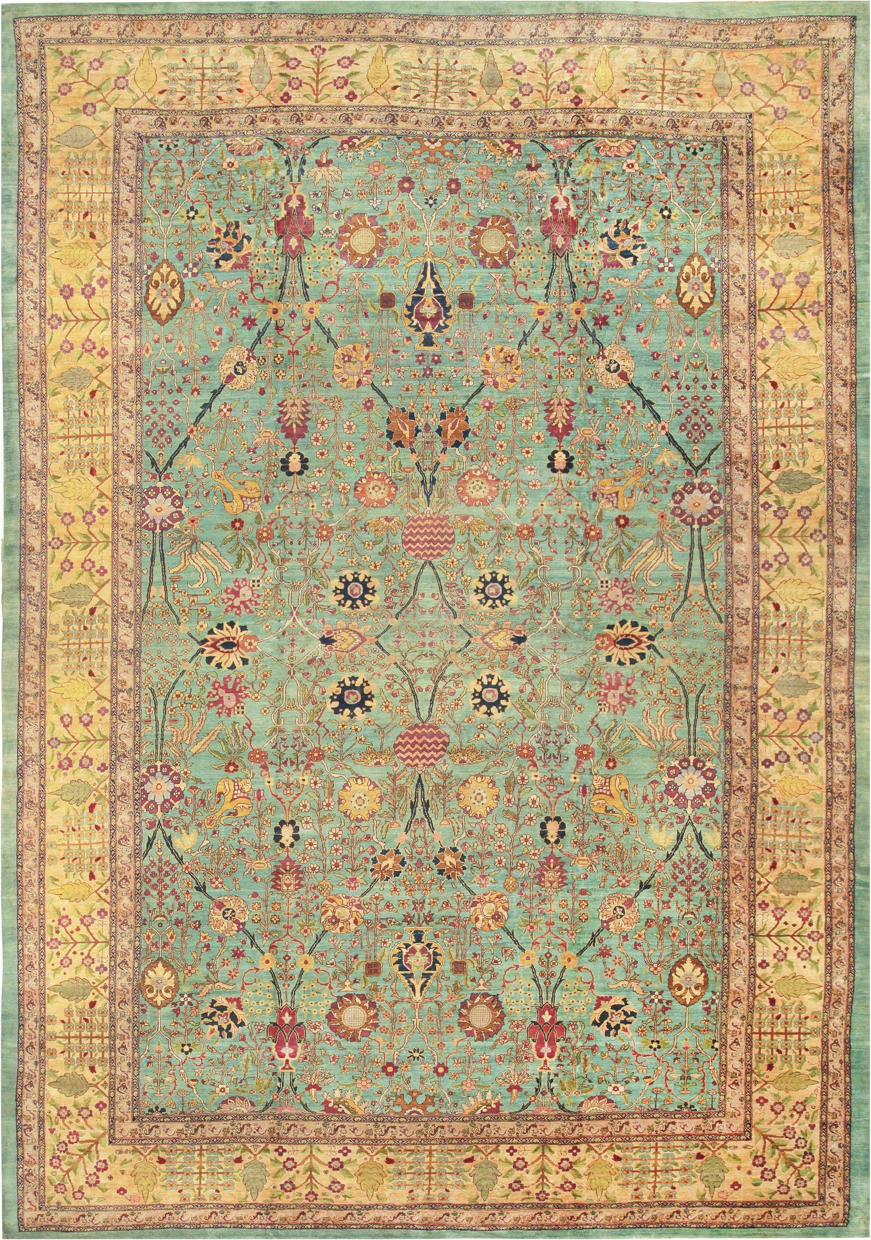 Antique Indian Agra Rug 40317 Nazmiyal Carpets In Nyc In Agra Rugs (Image 10 of 15)