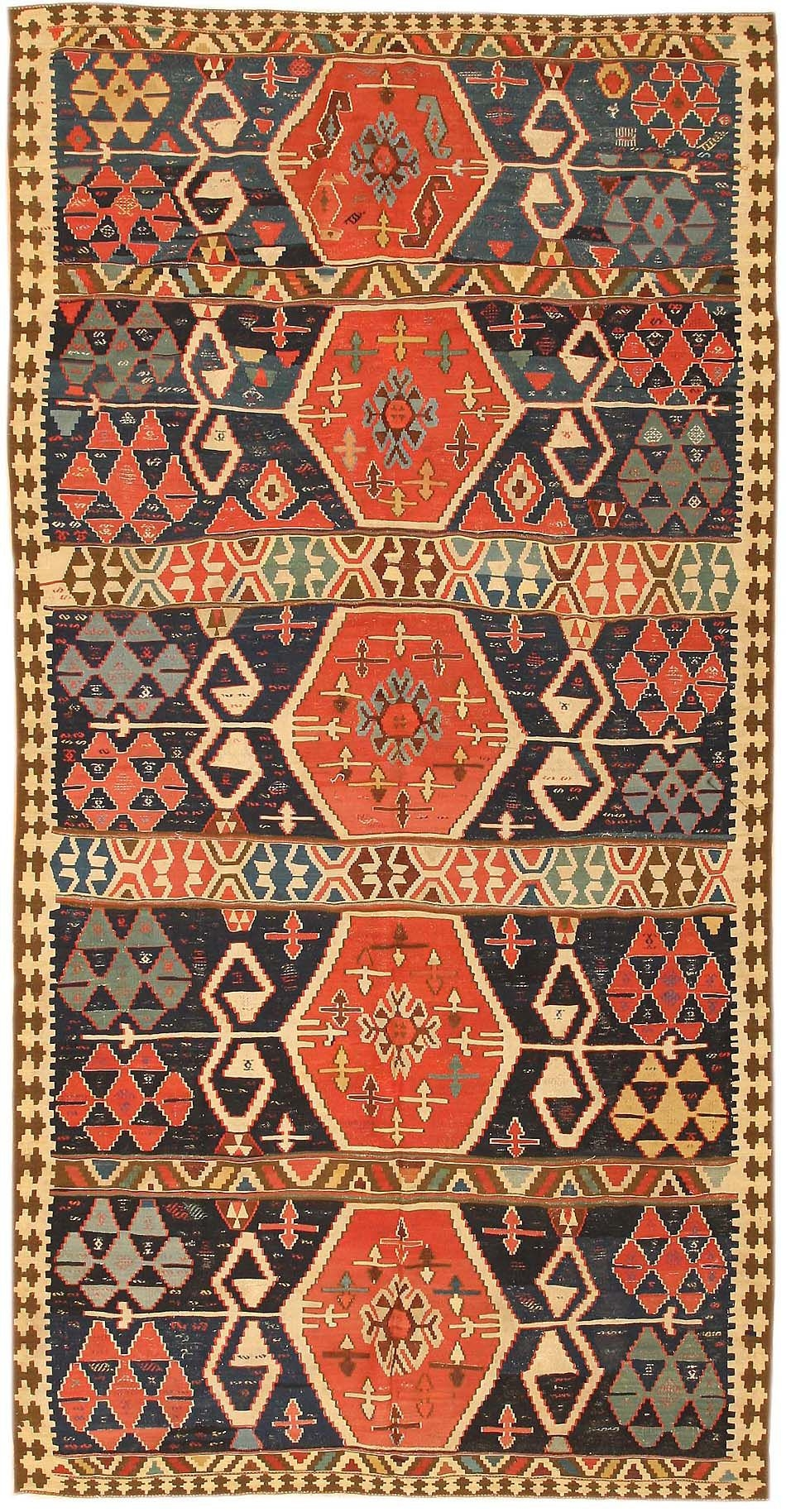 Antique Kilim Persian Carpets 43814 Nazmiyal Collection In Kilim Rugs (Image 2 of 15)