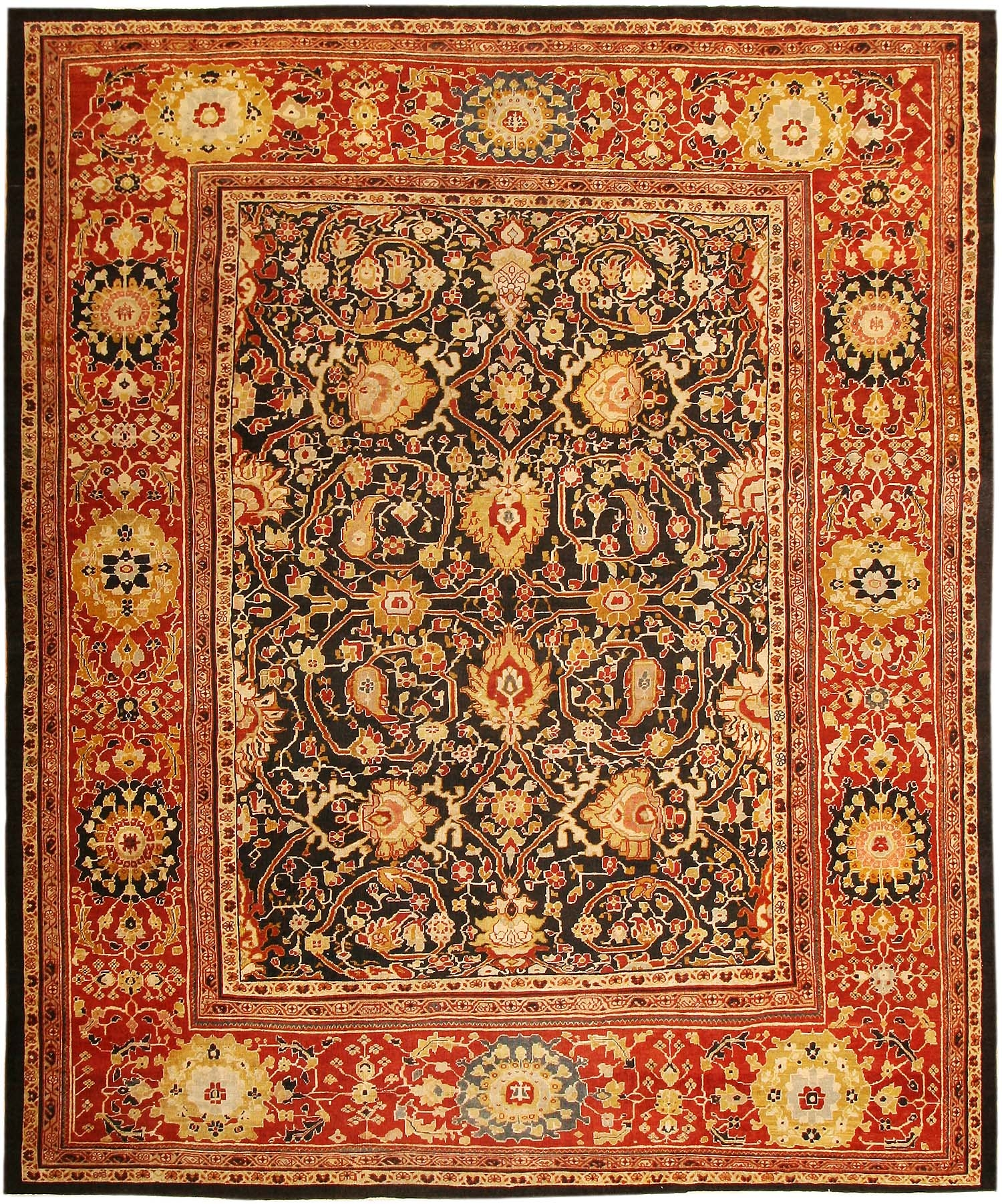 Antique Persian Sultanabad Rug 45212 Nazmiyal For Persian Rugs (Image 4 of 15)