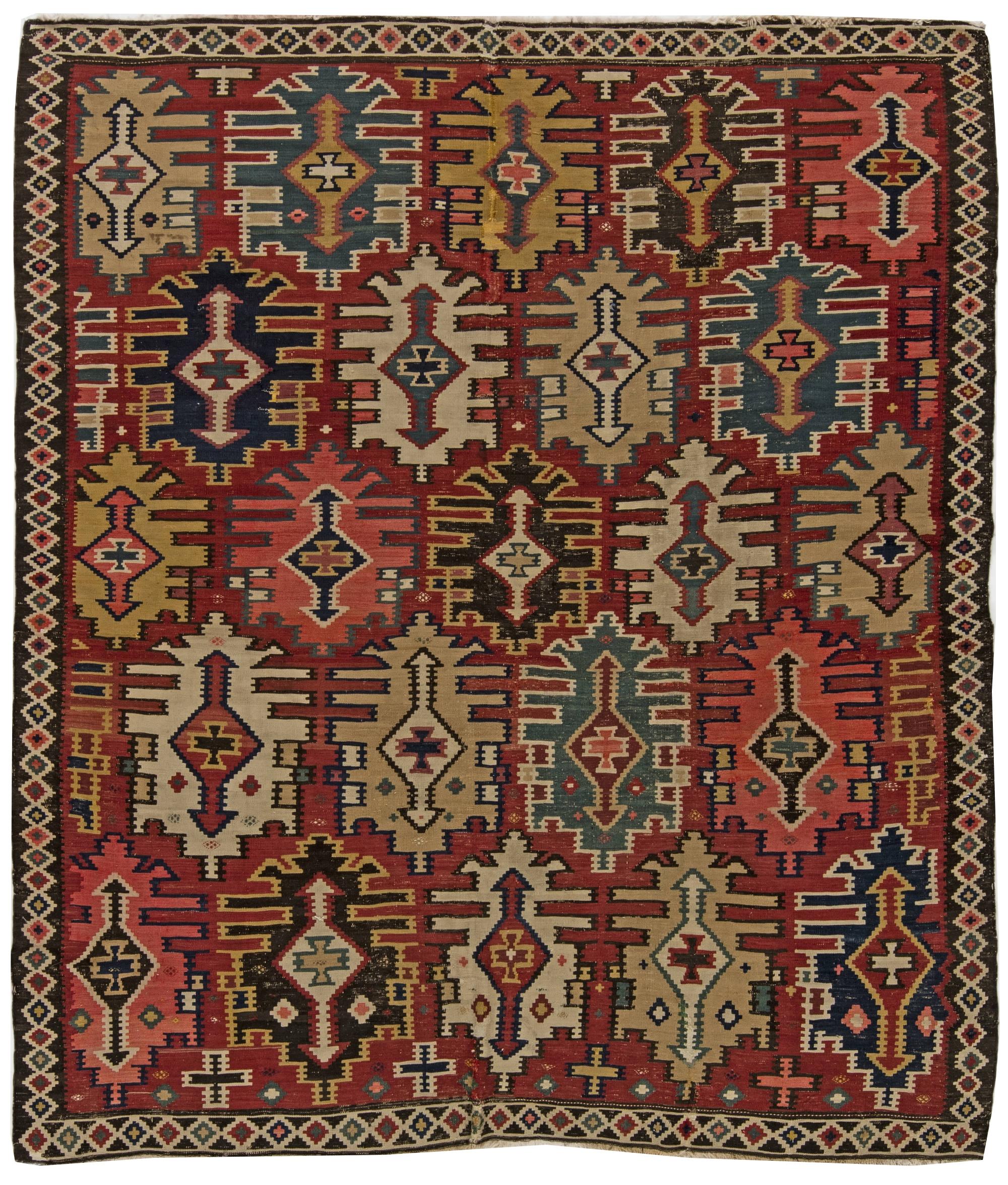 Antique Turkish Kilim Rug Pertaining To Kilim Rugs (Image 5 of 15)