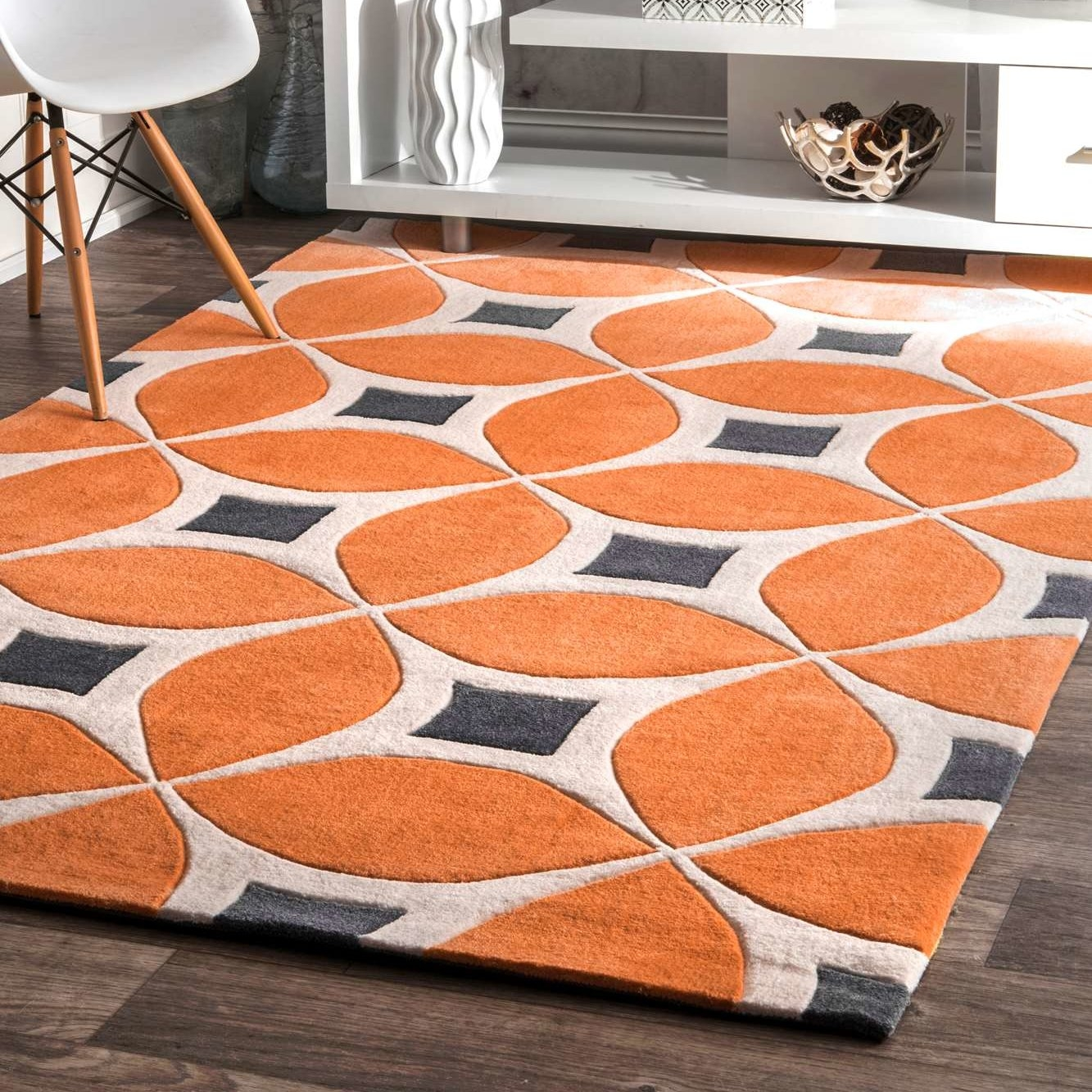 Anya Orange Area Rug Reviews Joss Main In Orange Floor Rugs (Image 1 of 15)