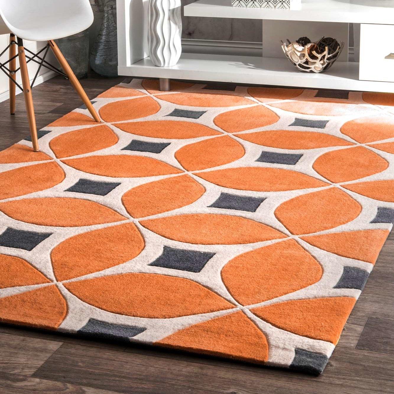 Anya Orange Area Rug Reviews Joss Main In Orange Floor Rugs (View 10 of 15)