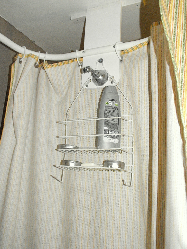 Apartment Update Custom Shower Curtain Craftzilla Conquers The For Shower Curtains For Clawfoot Tubs (Image 1 of 25)