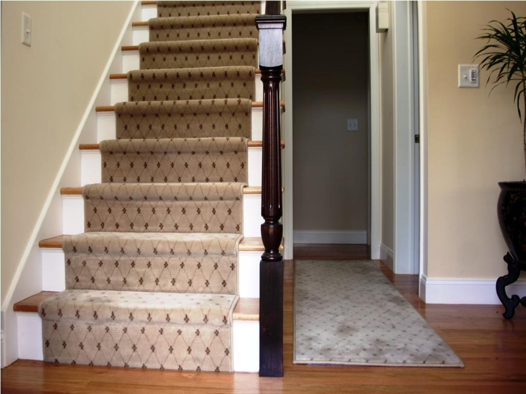 Applying Carpet Stair Treads To Increase The Beauty Stair In Small Stair Tread Rugs (View 9 of 15)