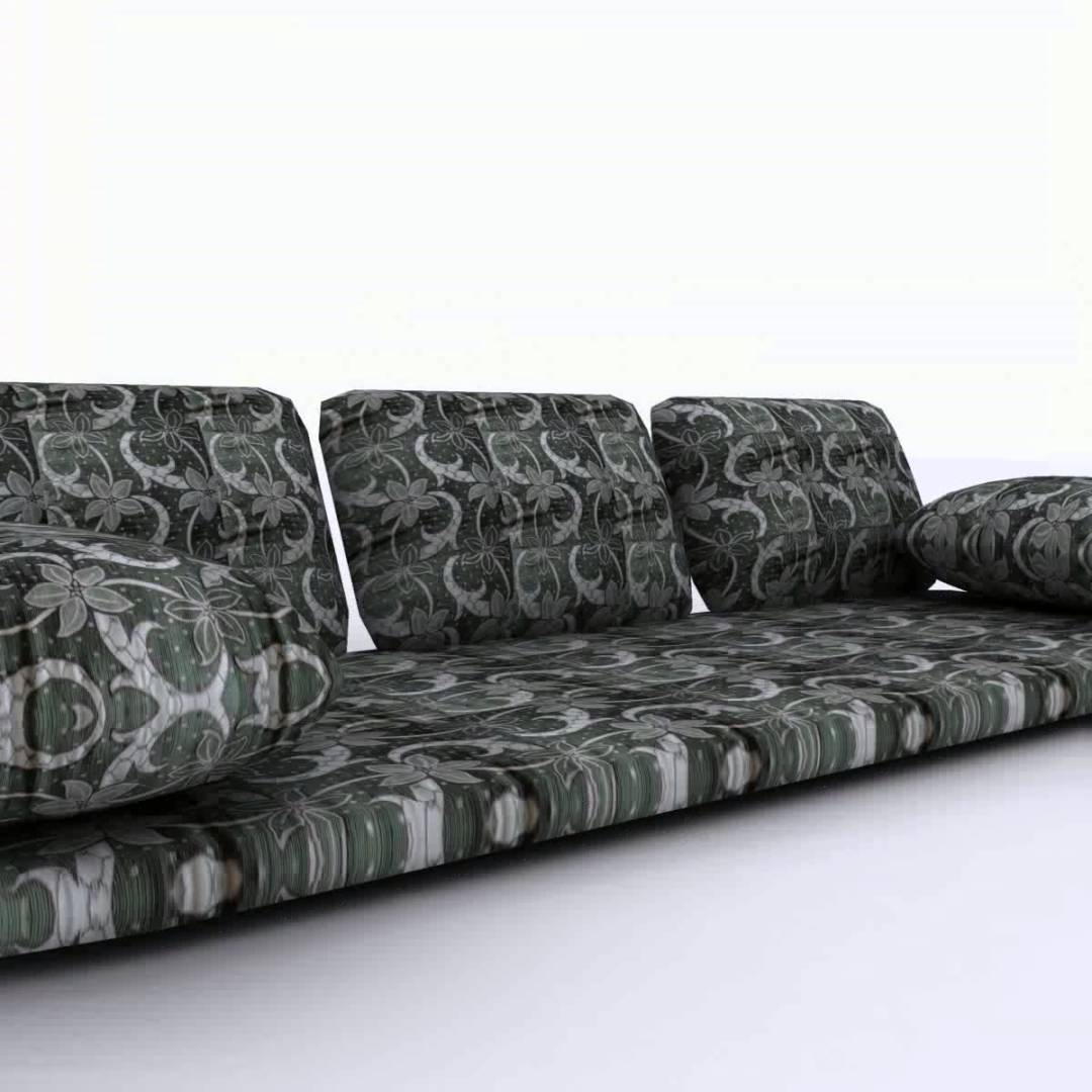 Arabian Floor Sofa 3d Model From Cgtrader Youtube Within Moroccan Floor Seating Furniture (Image 1 of 15)