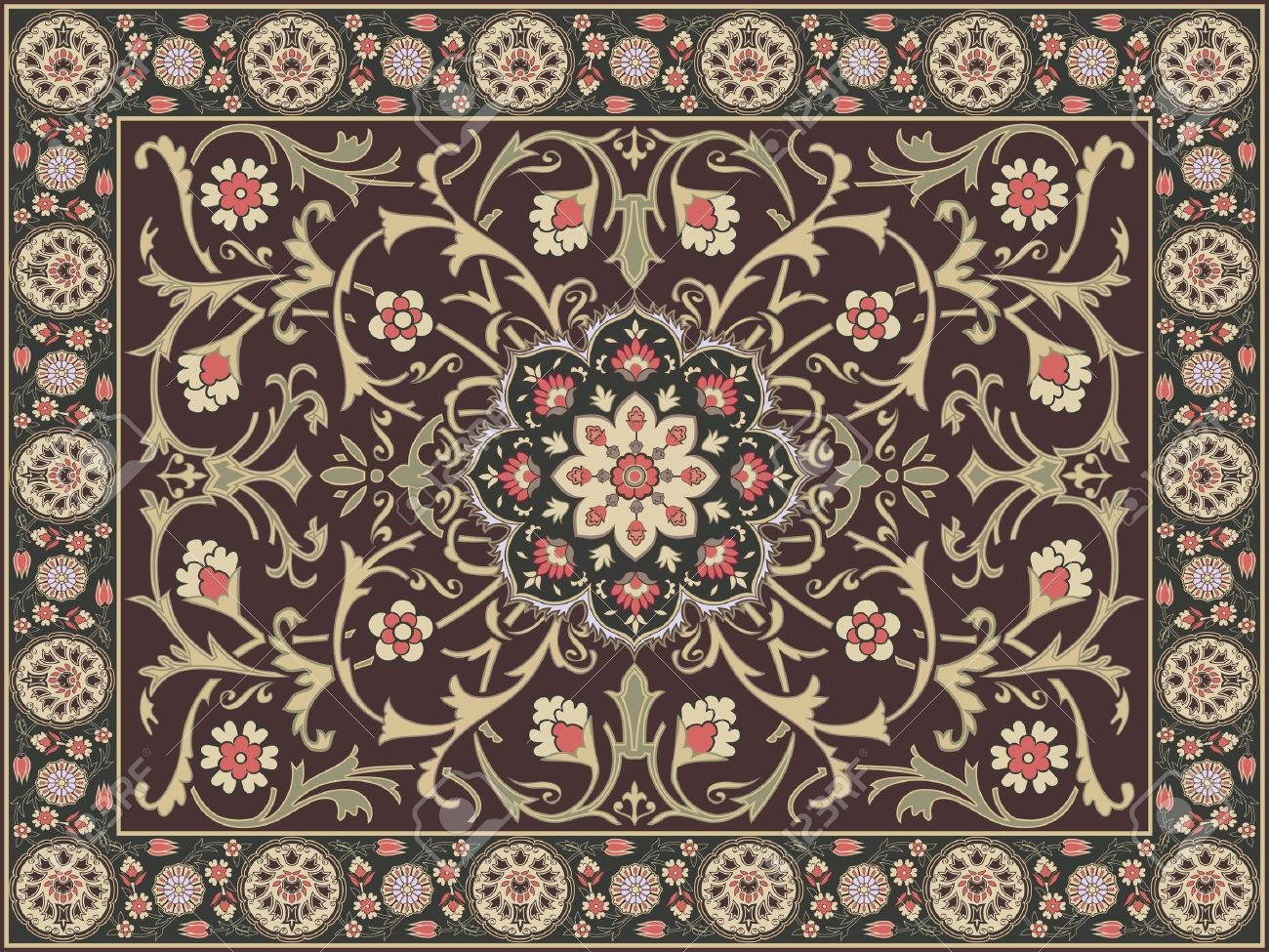 Arabic Style Carpet Design Royalty Free Cliparts Vectors And Regarding Arabic Carpets (Image 8 of 15)