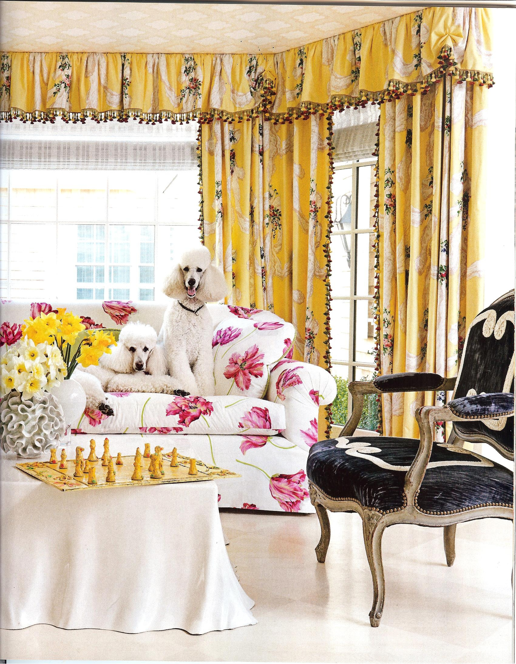 Are Those Chintz Fabrics That I See In House Beautiful Feb 2013 With Regard To Yellow Chintz Sofas (Image 3 of 15)