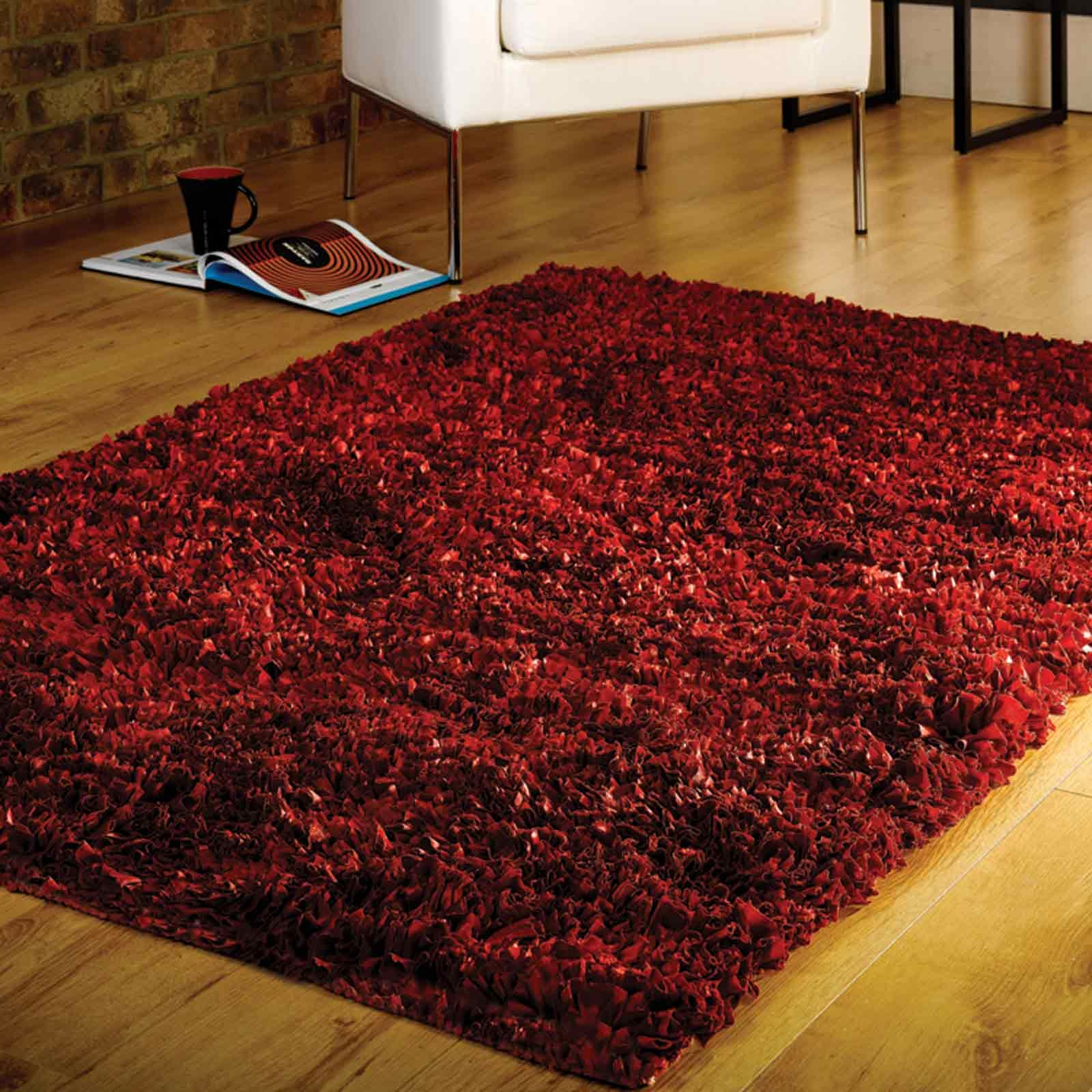 Area Rugs Astounding Large Shaggy Rugs 1215 Shaggy Area Rug Throughout Large Red Rugs (View 7 of 15)